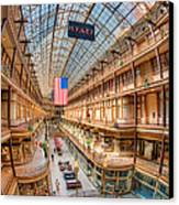 The Cleveland Arcade Iv Canvas Print by Clarence Holmes