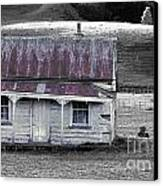 The Crooked Cottage Canvas Print by Karen Lewis