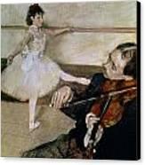 The Dance Lesson Canvas Print by Edgar Degas