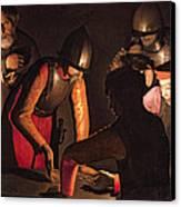 The Denial Of Saint Peter Canvas Print by Georges De La Tour