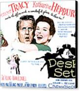 The Desk Set, Spencer Tracy, Katharine Canvas Print by Everett