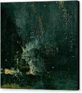 The Falling Rocket Canvas Print by James Abbott Whistler