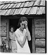 The Family Of Poor Farmer In Boone Canvas Print by Everett