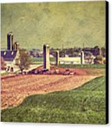 The Farm In Lancaster Canvas Print by Kathy Jennings