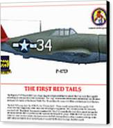 The First  Red Tails Canvas Print by Jerry Taliaferro