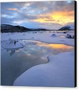 The Fjord Of Tjeldsundet In Troms Canvas Print by Arild Heitmann