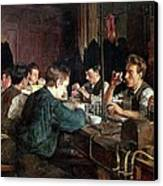 The Glass Blowers Canvas Print by Charles Frederic Ulrich