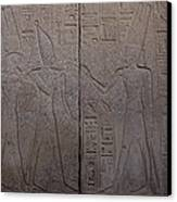 The Gods Horus And Amun Are Represented Canvas Print by Taylor S. Kennedy