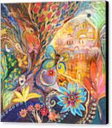 The Golden Jerusalem Canvas Print by Elena Kotliarker