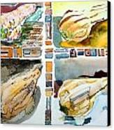 The Gourd Quartet Canvas Print by Mindy Newman