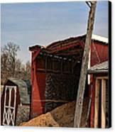 The Grain Barn Canvas Print by Paul Ward