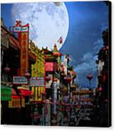 The Great White Phoenix Of Chinatown . 7d7172 Canvas Print by Wingsdomain Art and Photography
