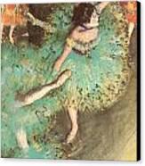 The Green Dancer Canvas Print by Edgar Degas