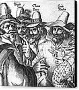 The Gunpowder Rebellion, 1605 Canvas Print by Photo Researchers