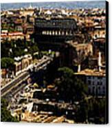 The Historic Centre Of Rome Canvas Print by Fabrizio Troiani
