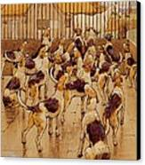 The Hounds Began Suddenly To Howl In Chorus  Canvas Print by Cecil Charles Windsor Aldin
