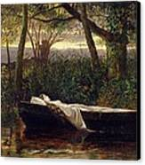 The Lady Of Shalott Canvas Print by Walter Crane