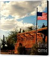 The Last Outpost Old Tuscon Arizona Canvas Print by Susanne Van Hulst
