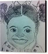 The Late Jahessye Shockley Canvas Print by Charita Padilla