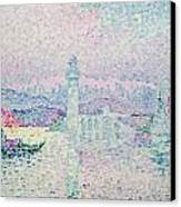 The Lighthouse At Antibes Canvas Print by Paul Signac