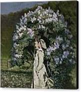 The Lilac Bush Canvas Print by Olaf Isaachsen