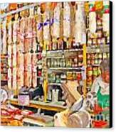The Local Deli Canvas Print by Wingsdomain Art and Photography