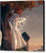 The Lonely Ghost Of October Canvas Print by Daniel Eskridge