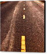 The Long Road Home . Painterly Style . Long Size Canvas Print by Wingsdomain Art and Photography