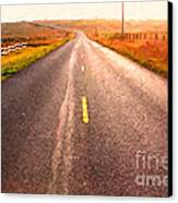 The Long Road Home . Painterly Style Canvas Print by Wingsdomain Art and Photography