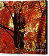 The Magic Of Autumn - Digital Abstract Canvas Print by Carol Groenen