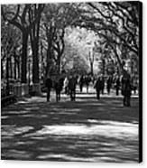 The Mall At Central Park Canvas Print by Rob Hans