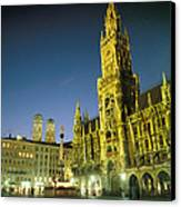 The Marienplatz At Night Canvas Print by Taylor S. Kennedy