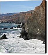 The Marin Headlands - California Shoreline - 5d19692 Canvas Print by Wingsdomain Art and Photography