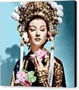 The Mask Of Fu Manchu, Myrna Loy, 1932 Canvas Print by Everett