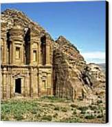 The Monastery Ad Dayr At Petra Canvas Print by Sami Sarkis