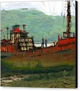 The Old Fishing Trawler Canvas Print by Stefan Kuhn
