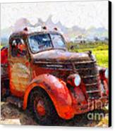 The Old Rusty Jalopy . 7d15500 Canvas Print by Wingsdomain Art and Photography