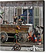 The Old Shed Canvas Print by Mary Machare