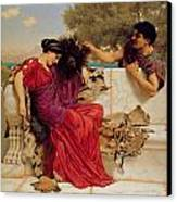 The Old Story Canvas Print by John William Godward