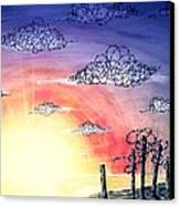 The Pain Of Sky That Will Never Be Calm Canvas Print by Paulo Zerbato