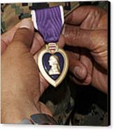 The Purple Heart Award Canvas Print by Stocktrek Images