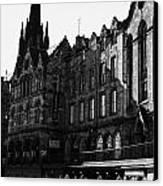 The Quaker Meeting House On Victoria Street Edinburgh Scotland Uk United Kingdom Canvas Print by Joe Fox