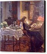 The Quiet Hour Canvas Print by Albert Chevallier Tayler