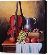 The Red Violin Canvas Print by Gene Gregory