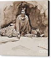 The Robe Canvas Print by Pg Reproductions