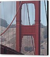 The San Francisco Golden Gate Bridge - 7d19061 Canvas Print by Wingsdomain Art and Photography