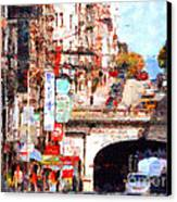 The San Francisco Stockton Street Tunnel . 7d7355 Canvas Print by Wingsdomain Art and Photography