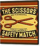The Scissors Safety Match Canvas Print by Carol Leigh