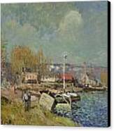 The Seine At Port-marly Canvas Print by Alfred Sisley