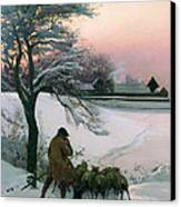The Shepherd Canvas Print by EF Brewtnall